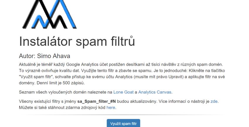 Instalátor spam filtrů