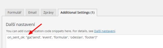 Sklik konverze v pluginu Contact Form 7