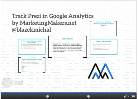 Track Prezi in Google Analytics