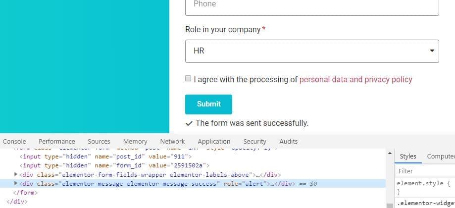 Průzkumník HTML ve vývojářských nástrojích