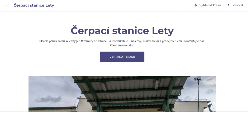 Web Cerpaci Stanice Lety